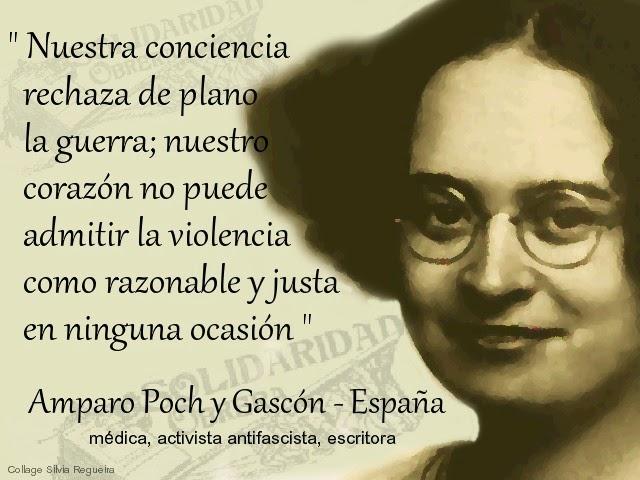 Amparo Poch y Gascón sobre la guerra y la violencia